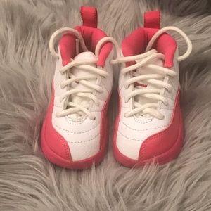 Pink & White Jordan's